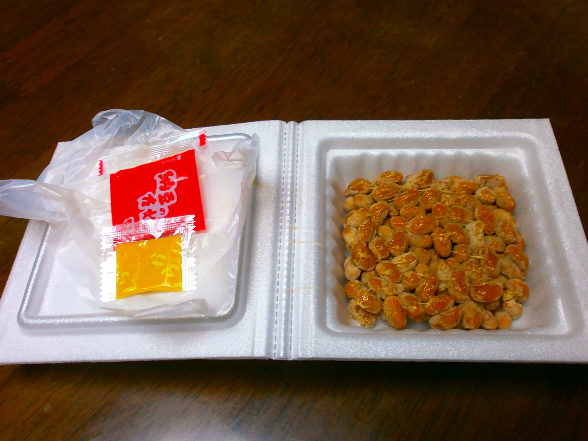 Which high-calorie? Natto? Sausage?